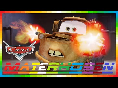 CARS 2 - Materhosen Hook - Mater - Złomek ( Disney Game Race With Mini Movie & Lightning McQueen )
