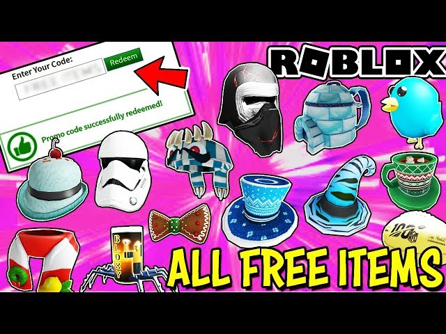 free robux codes june 2018 hd mp4 All Free Items On Roblox Working January 2020 Promo Codes Event Items Gift Cards More Youtube