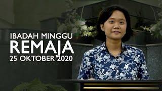 Ibadah Minggu 25 Oktober 2020 untuk Remaja