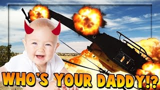 EVIL BABY BLOWS UP HELICOPTER - Who's Your Daddy *Minecraft Modded Edition*