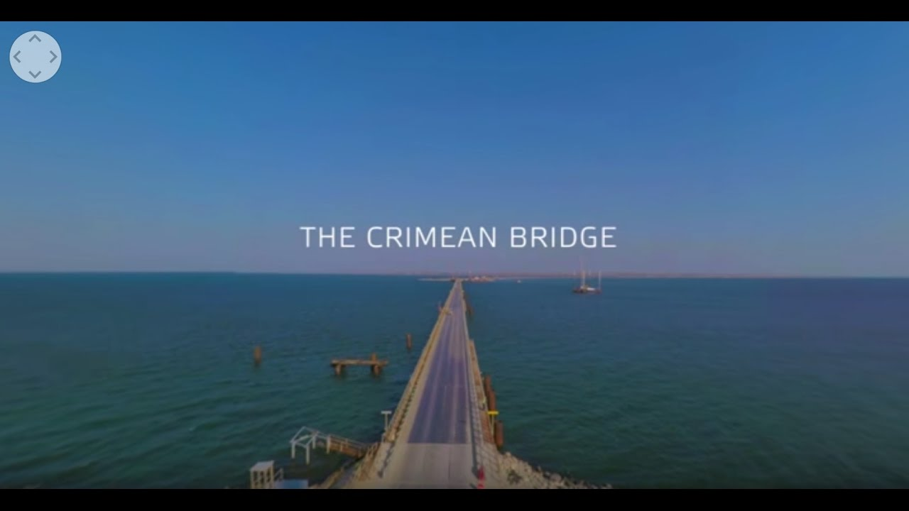 360 cam captures construction of Kerch Strait Bridge