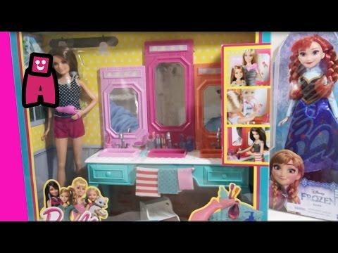 Barbie Bathroom Vanity Set with featuring Frozen Elsa, Barbie and Chelsea