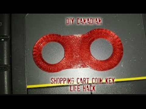 3D Printed Canadian Shopping Cart Coin Key Life Hack