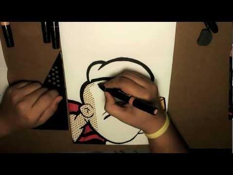 Pop Art Drawing - POPEYE [Bleebo ART]