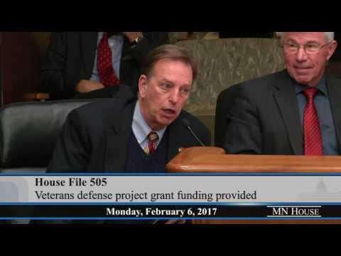 House Veterans Affairs Division hears HF505