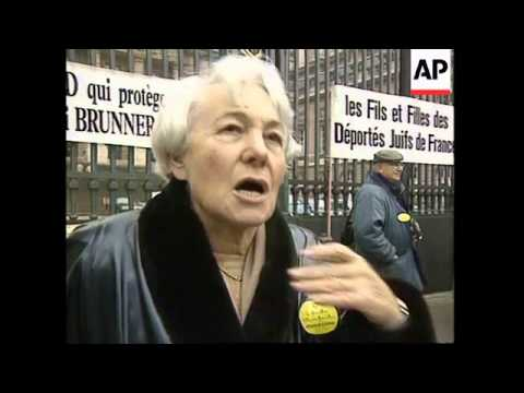 FRANCE: NAZI WAR CRIMINAL ALOIS BRUNNER ON TRIAL