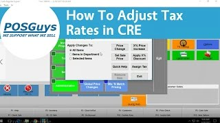 This video goes over how to adjust tax rates for individual departments within cash register express. more help with cre, contact our desk at help@p...