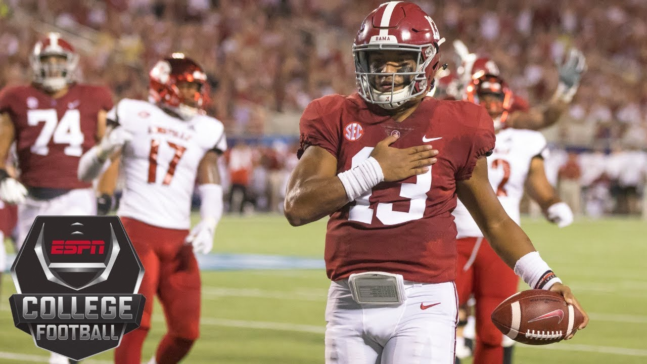 College Football Highlights Tua Tagovailoa No 1 Alabama Roll