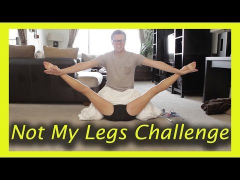 NOT MY LEGS CHALLENGE (w/ Rebecca Zamolo and MattSlays)