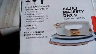Bajaj DHX 9 1000 Watt Dry Iron Unboxing & Genuine Quality check