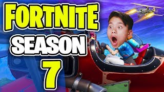 EvanTube Reacts To FORTNITE SEASON 7! | New PLANES, Battlepass, Weapon Skins, NEW Map!