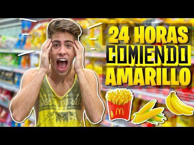 24 HORAS COMIENDO COMIDA AMARILLA