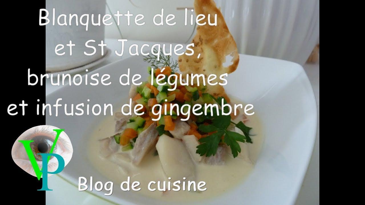Ma blanquette de lieu et St Jacques,brunoise de légumes et son infusion de gingembre