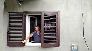 Алюминиевые жалюзийные ставни на окна