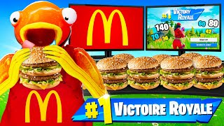 1 KILL = 1 BURGER CHALLENGE sur FORTNITE Battle Royale
