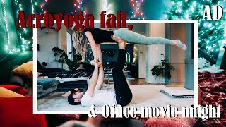 Acroyoga Fail & Office Movie Night | AD