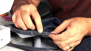 hemming jeans tips on using an entry level home sewing machine