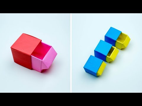 Origami Drawer Box - How To Make Origami Drawer Box - Origami Drawer Box Making - Paper Craft - DIY