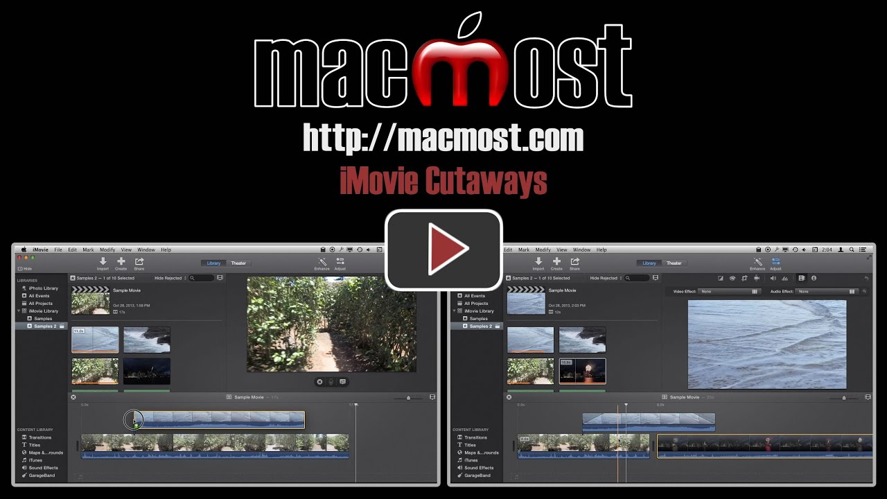 iMovie Cutaways