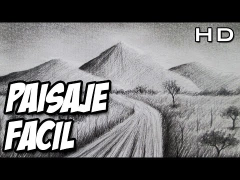 Cómo Dibujar Un Paisaje Muy Fácil A Lápiz Paso A Paso Youtube