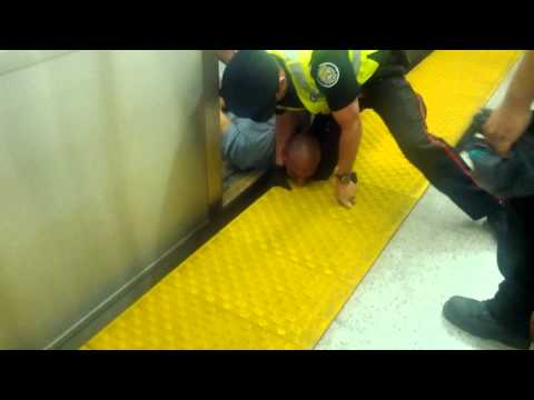 Police Subdue Suspect at Museum Subway TTC