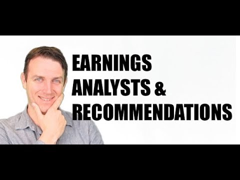 STOCK MARKET S&P 500 Q3 2017 EARNINGS & ANALYSTS RECOMMENDATIONS