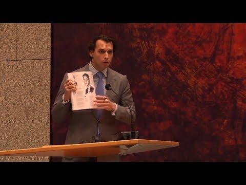 Thierry Baudet zet Rutte voor het blok in Tweede Kamer