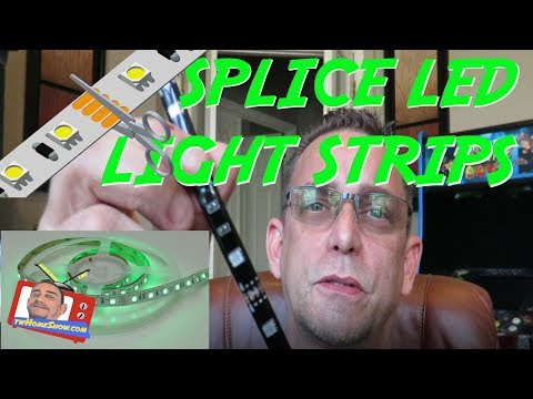 How to CUT and SPLICE LED strip lights: Use left-over LED Strips UNDER $12