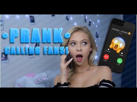 PRANK CALLING FANS!! | Jordyn Jones