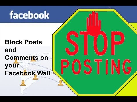 How To Block Posts And Comments On Your Facebook Wall