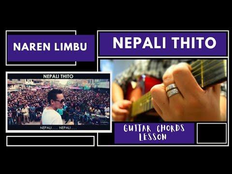 Naren Limbu Nepali Thito Guitar Chords Lesson Nrk Youtube