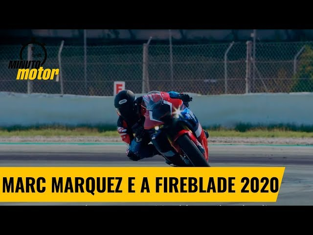 Marc Marquez acelera a nova CBR1000RR-R Fireblade