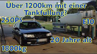 Hypermiling - Saab 9-5 Aero - Wie weit mit einer Tankfüllung? #DDG #DashcamDriversGermany
