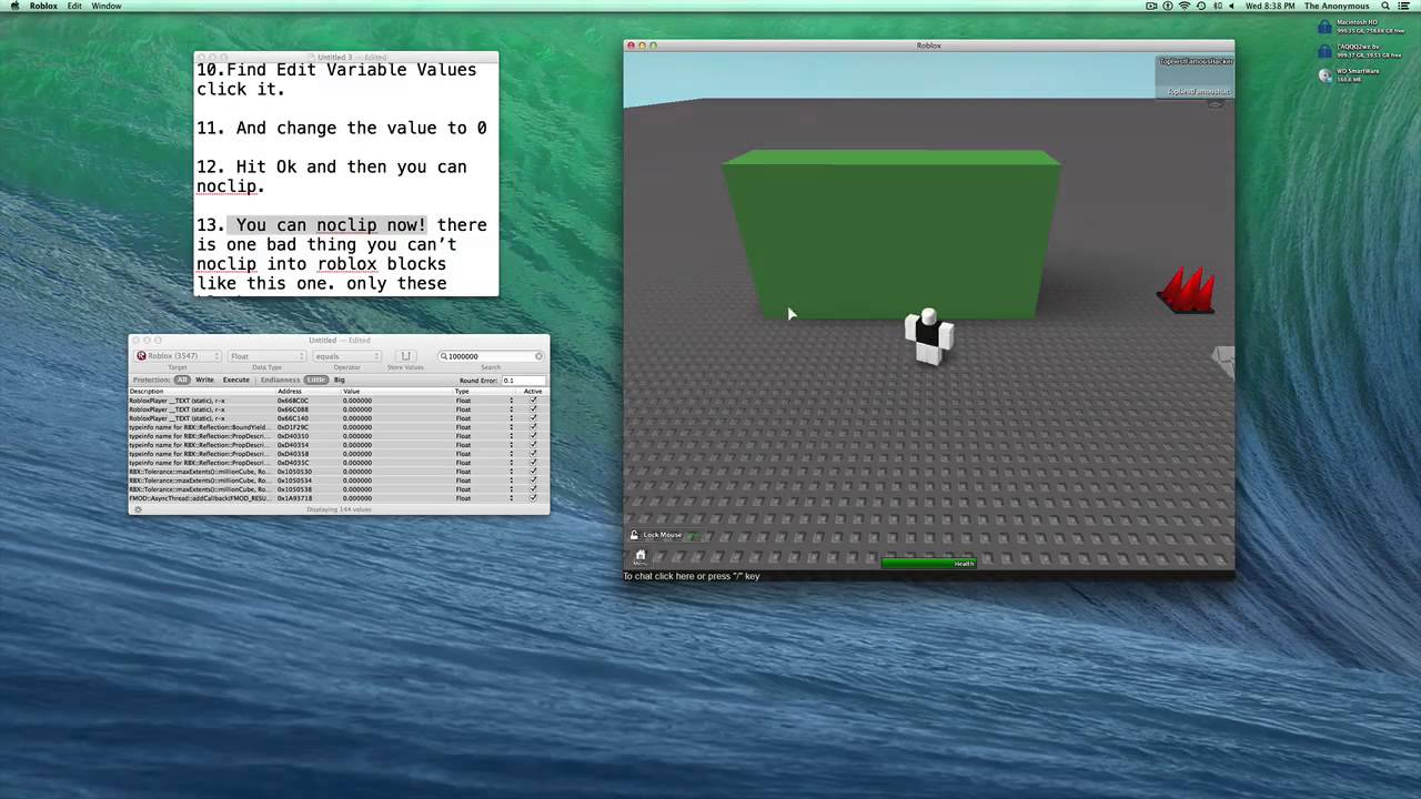 How To NoClip On Roblox Mac OS X!