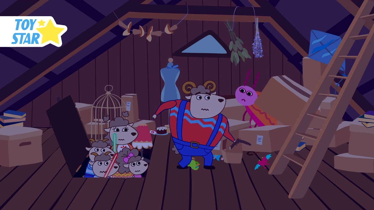 Someone is walking in the attic. We decided to check. Cartoon for Kids