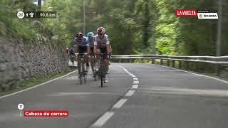 First breakaway - Stage 20 - La Vuelta 2018