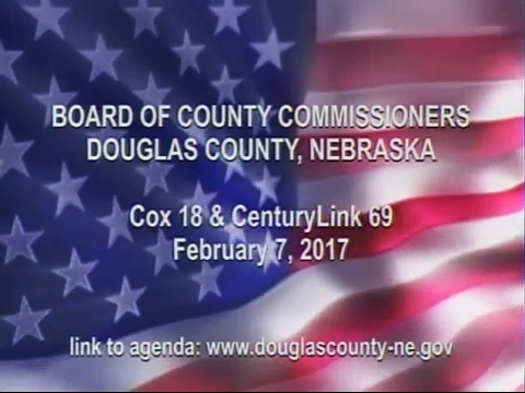 Board of County Commissioners Douglas County Nebraska, February 7, 2017