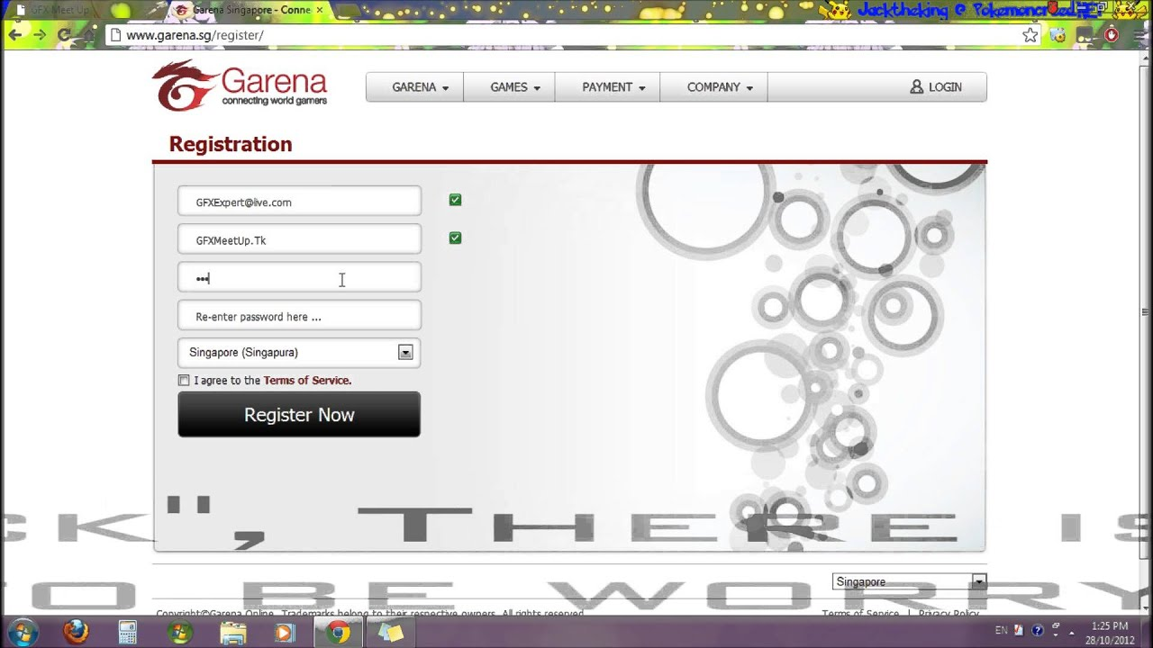 How to create a Account in Garena