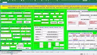 PROGRAMA DE CÁLCULOS ELÉCTRICOS EN MEDIO, BAJO VOLTAJE E INSTALACIONES ELÉCTRICAS screenshot 2