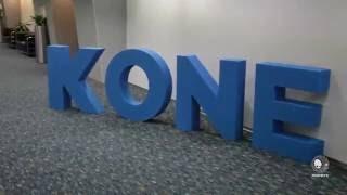 Большие буквы из пенопласта для конференции Kone