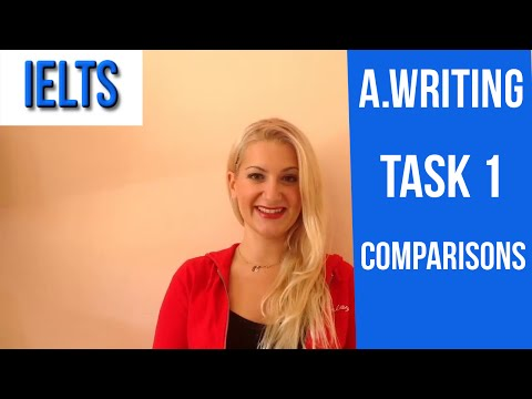 IELTS: A.Writing TASK 1 HOW TO COMPARE for HIGH SCORE-english video