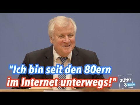 Horst Seehofer ist schon seit den 1980ern im Internet unterwegs!
