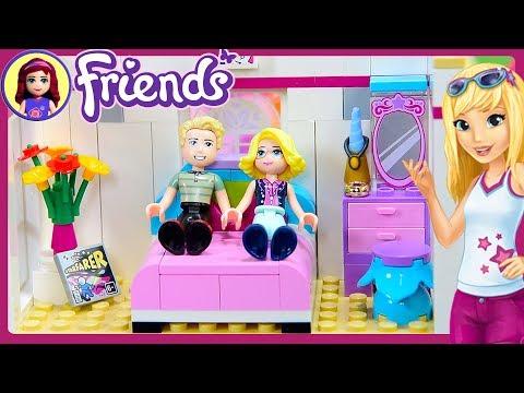 CUSTOM Parent's Room for Stephanie's House Lego Friends Renovation Build DIY Craft - Kids Toys