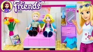 CUSTOM Parent's Room for Stephanie's House Lego Friends Renovation Build DIY Craft - Kids Toys