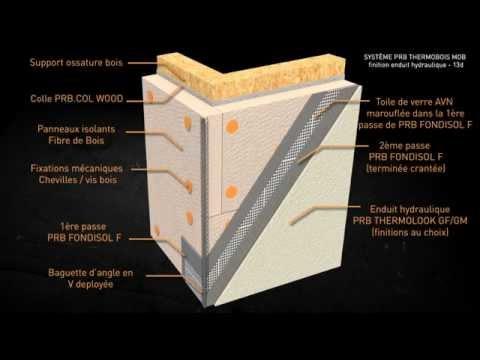 ite prb thermobois maison ossature bois finition enduit hydraulique 13d youtube. Black Bedroom Furniture Sets. Home Design Ideas