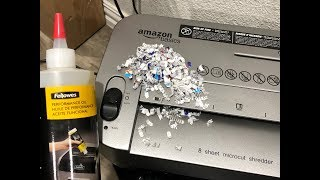 How to Oil a Paper Shredder | AmazonBasics 8-Sheet Micro-Cut Paper Shredder