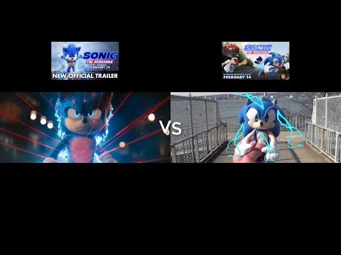 Sonic Movie Trailer Paramount Pictures vs My Sonic Plush Movie Trailer