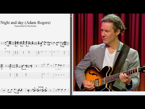 Adam Rogers - Lick from 'Night And Day' - Best lick (animated tab - Fast & slow)