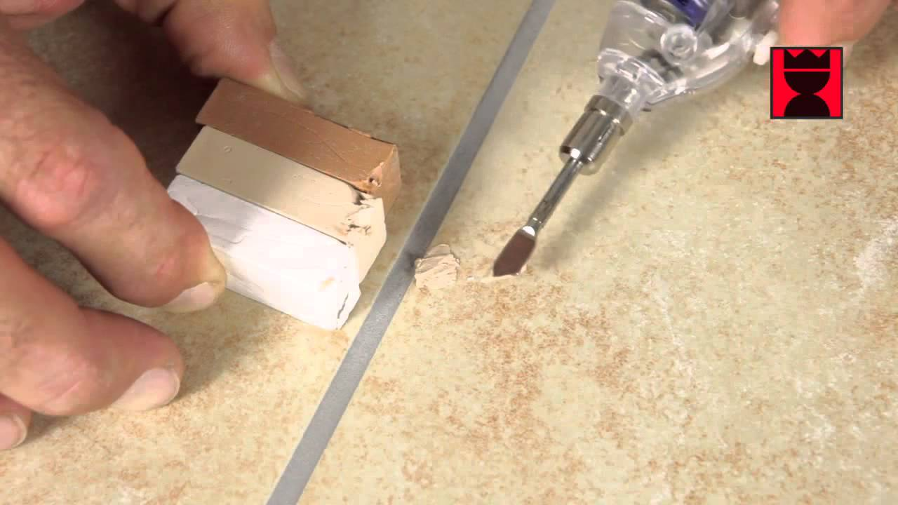 Repair Holes In Floor Or Wall Tiles Youtube