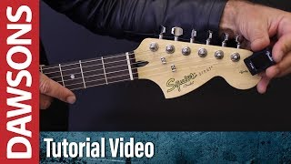 How To Tune a Guitar Using a Digital Tuner